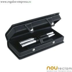 Boligrafo y pluma en caja de presentación para regalos corporativos
