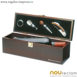 Caja de regalo para botella de vino con personalización de logo