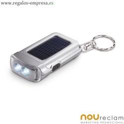 Llaveros linterna con panel solar, sin pilas