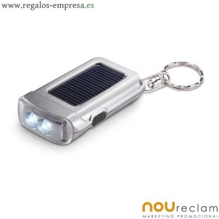 Llaveros linterna con panel solar,...