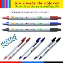 Bolígrafos personalizados a todocolor