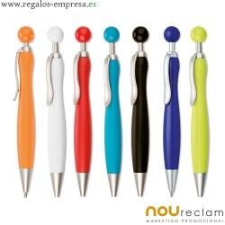 Boligrafos con pulsador forma pelota