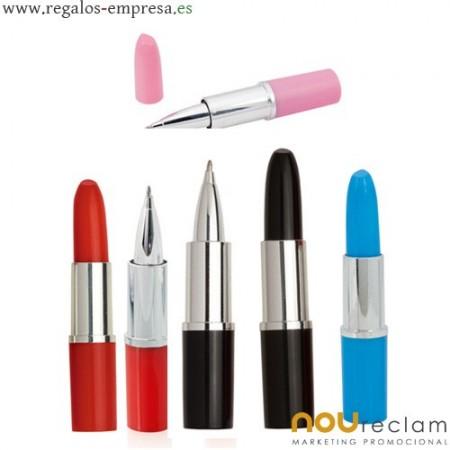 Bolígrafos pintalabios personalizados con logo