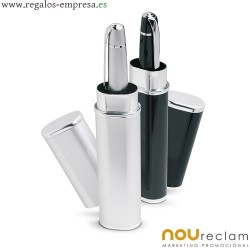 Bolígrafos en estuche de tubo metálico para regalos publicitarios
