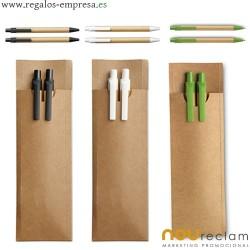 Set de bolígrafos en estuche baratos para regalos publicitarios