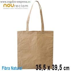 Bolsas ecológicas fibras algodón y papel 35x39