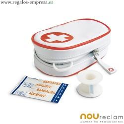 Mini botiquín de primeros auxilios en estuche personalizado barato