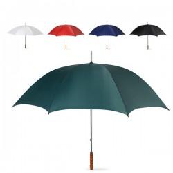 Paraguas promocionales para personalizar con mango recto de madera