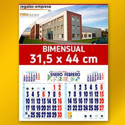Calendario pared bimensual
