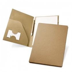 Subcarpeta A5 carton bloc y boli