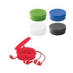 Auriculares con caja de colores