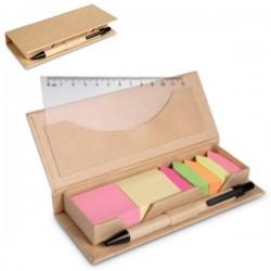 Sets oficina con notas adhesivas de colores