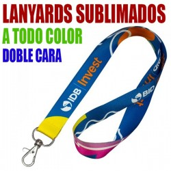 LANYARDS SUBLIMACION A TODO COLOR