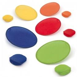 Frisbees plegables de colores