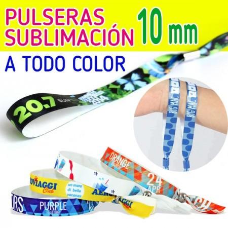 PULSERAS SUBLIMACION 10 MM