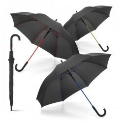 Paraguas negros para publicidad con detalles de colores