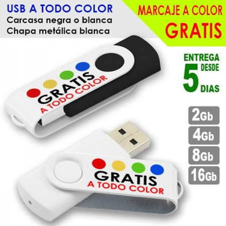 USB PERSONALIZADOS A COLOR