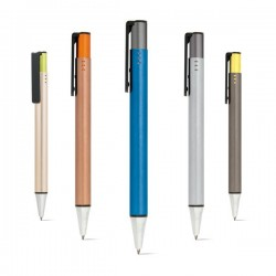 Boligrafos acabado metalico mate