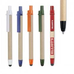 Boligrafos de carton con elementos de plástico