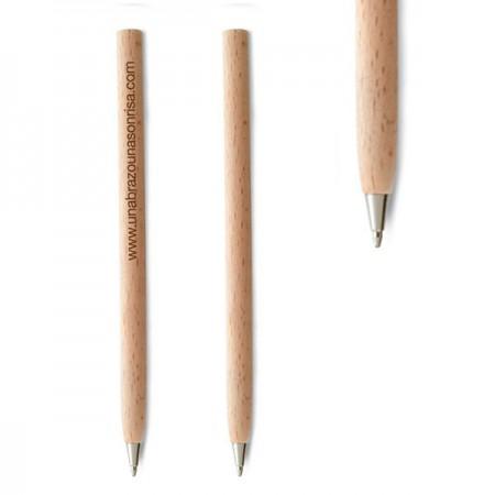 Boligrafos de madera con capuchon