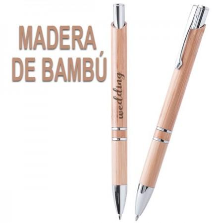 BOLIGRAFOS DE MADERA PUBLICITARIOS