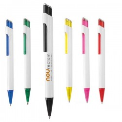 Bolígrafos translucidos personalizables fisok