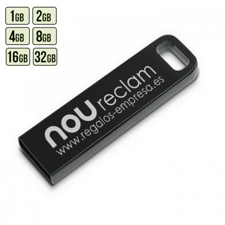 USB METAL CON LOGO