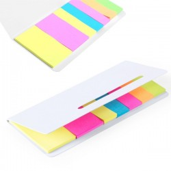 NOTAS ADHESIVAS TIPO POST IT COLORES VARIADOS