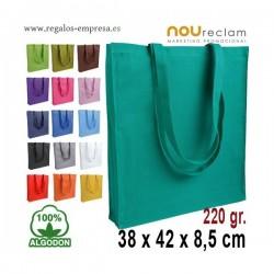 Bolsa de algodón 250gr de colores muy resistentes