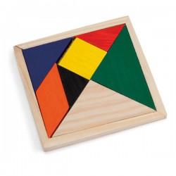 Puzles de madera de colores
