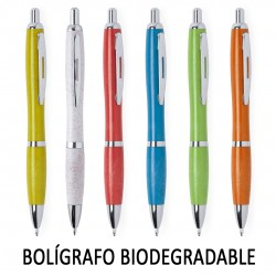 BOLIGRAFOS BIODEGRADABLES RECICLADOS