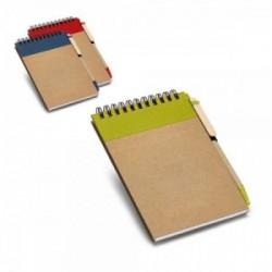 Libreta personalizada ecológica con boli de cartón reciclado
