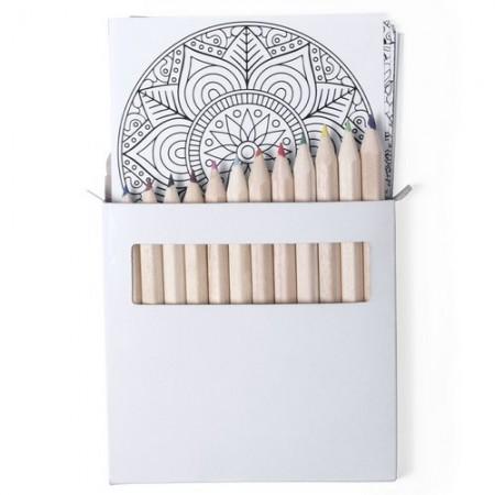 Set lápices y mandalas para colorear