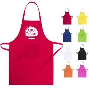 Delantales publicitarios de colores para personalizar