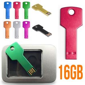 Memoria usb personalizada con forma de llave en colores