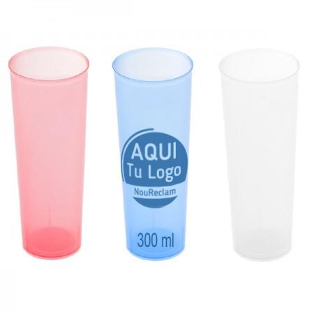 Vasos personalizados reutilizables de plástico flexible