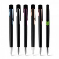 Bolígrafos personalizados originales negros contrastados con detalles a color