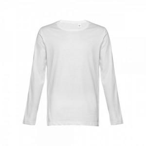 Camisetas promocionales blancas manga larga para hombre con logo personalizado BUCHAREST
