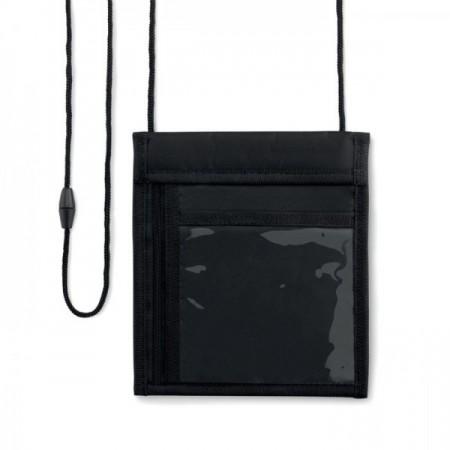 Portatodo identificador para colgar con múltiples bolsillos para publicidad