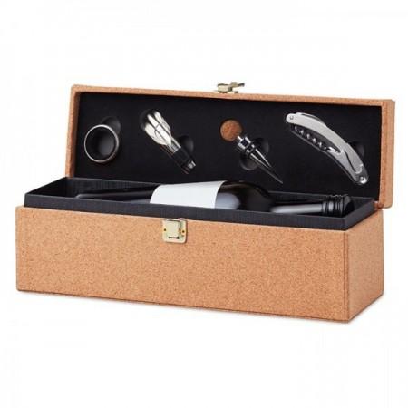 Caja para botella de vino con accesorios para regalos de empresa