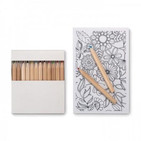 Set de dibujo publicitario para colorear con dibujos y colores