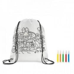 Bolsa mochila infantil para colorear ideal regalos publicitarios