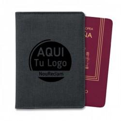 Estuche de viaje porta pasaporte con bolsillos para publicidad