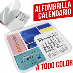 Alfombrillas calendario personalizadas