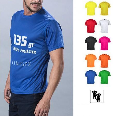 Camisetas técnicas personalizadas tejido nido de abeja, Adulto