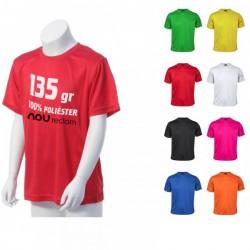 Camisetas técnicas personalizadas tejido nido de abeja, Niño