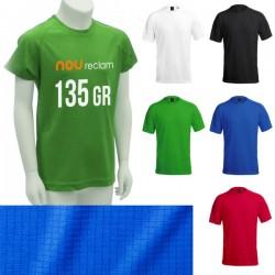Camisetas técnicas personalizadas de colores tejido texturizado Niño
