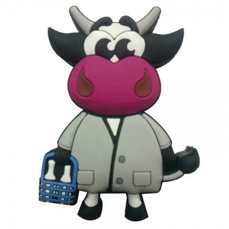 Memorias USB vaca gris con botella leche
