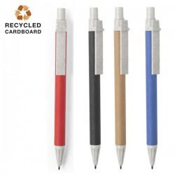 Bolígrafos ecológicos de cartón con accesorios de caña de trigo