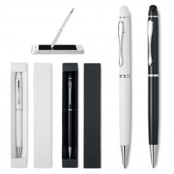 Boligrafos y funda de regalo para merchandising personalizado